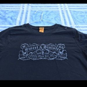 Vintage Tops - Sweet & Sinister candy shop tee